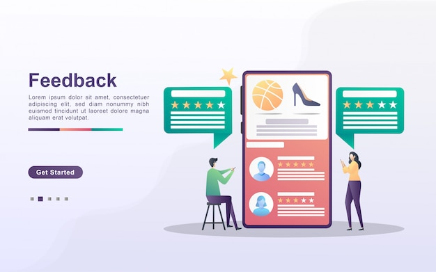 Feedback-konzept mit personencharakter