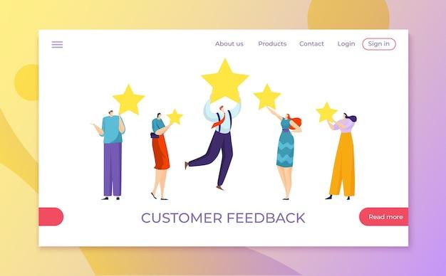 Feedback mit kundensternbewertung im bewertungsservicekonzept
