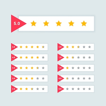 Feedback oder sternebewertung minimales symbol design