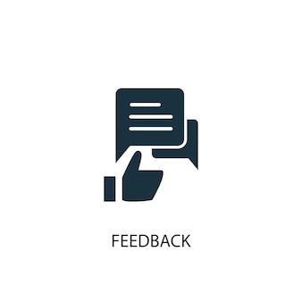 Feedback-symbol. einfache elementabbildung. feedback-konzept-symbol-design. kann für web und mobile verwendet werden.