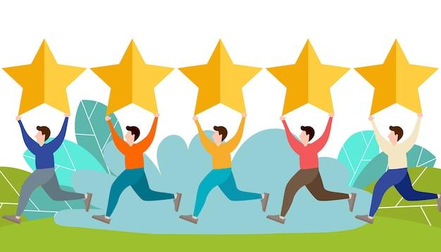Feedback und bewertungskonzept für website-bewertungen