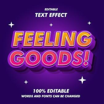 Feeling goods text effekte