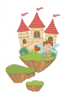 Feenhafte karikatur der märchenillustration