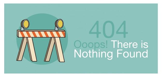 Fehler 404 banner, vektor-illustration
