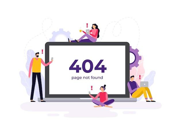 Fehler 404 bei den geräten im flat design