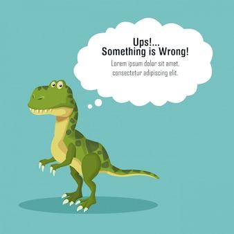 Fehler 404 dinosaurier thema