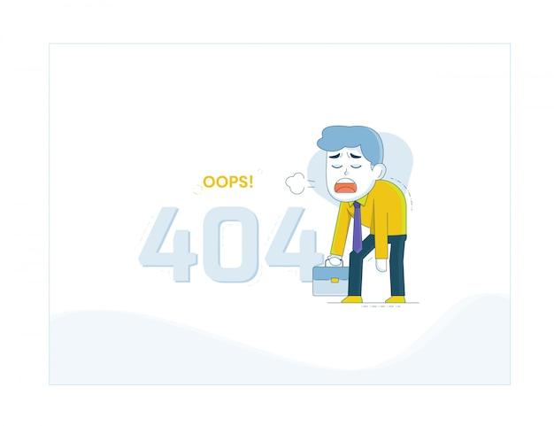 Fehler 404-illustration