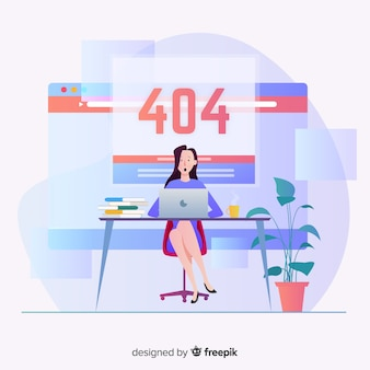 Fehler 404-konzept für zielseite