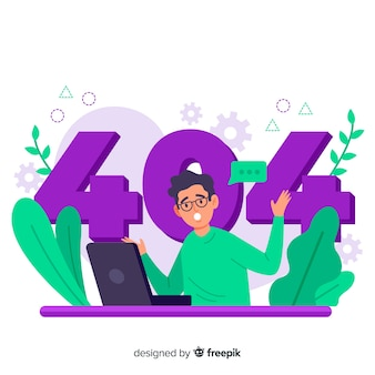 Fehler 404 konzept illustration