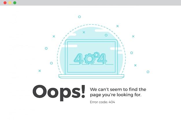 Fehler 404 nicht verfügbare webseite. datei nicht gefunden konzept