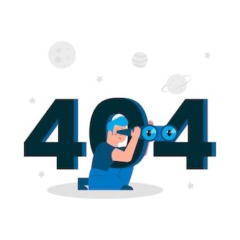 Fehler 404 vektorkonzeptillustration