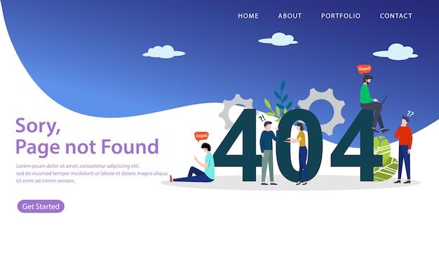 Fehler 404-zielseite