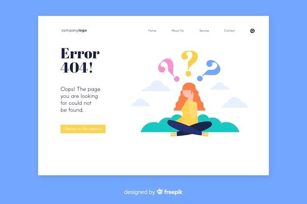 Fehler 404-zielseitenvorlage
