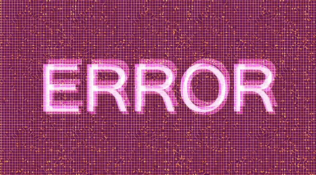 Fehler binärer sicherheits- und schutzhintergrund