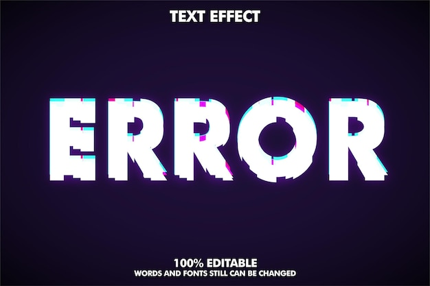 Fehler text effekt glitch textstil
