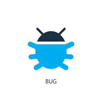 Fehlersymbol. logo-element-abbildung. bug-symbol-design aus 2-farbiger kollektion. einfaches bug-konzept. kann im web und mobil verwendet werden.