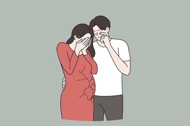 Fehlgeburt schwangerschaftsverlust abtreibungskonzept