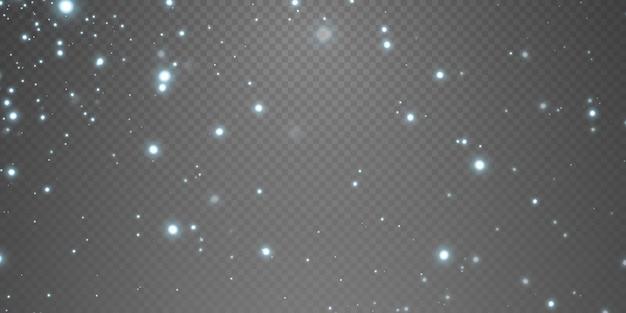 Feier abstrakter hintergrund aus licht und silber glitzernden staubpartikeln und sternen