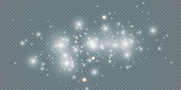 Feier abstrakter hintergrund von kleinen funkelnden staubpartikeln und sternen