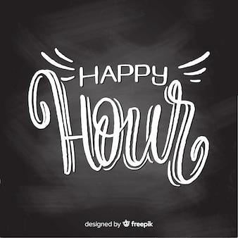 Feier der happy hour mit schriftzug
