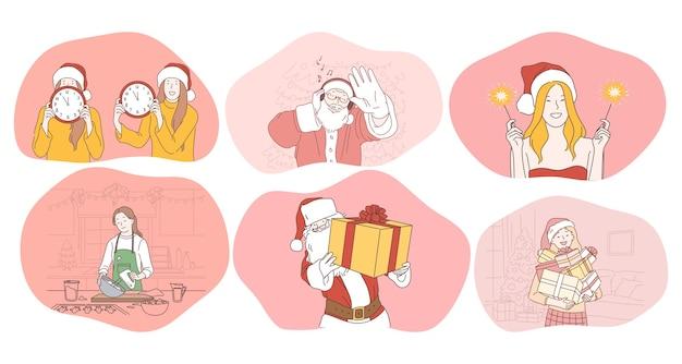 Feier des neujahrs- und winterferienkonzepts