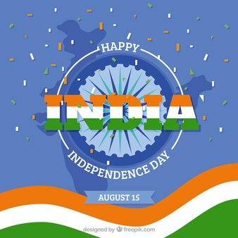 Feier hintergrund mit flagge der indischen unabhängigkeit tag