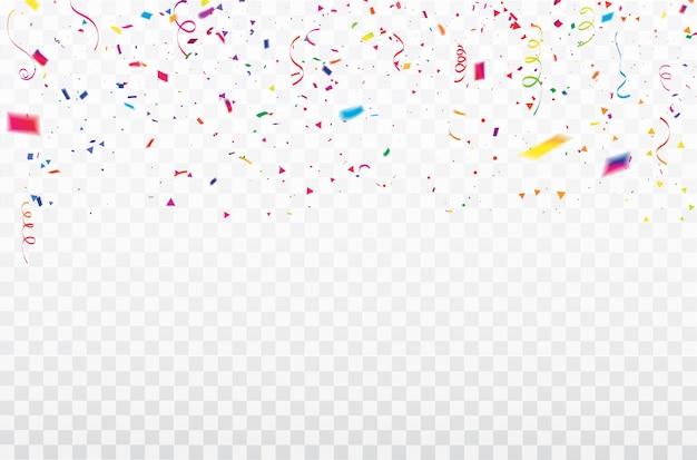Feier konfetti-bänder-rahmen.