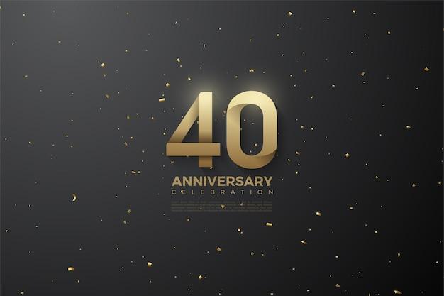 Feier zum 40-jährigen jubiläum. Premium Vektoren
