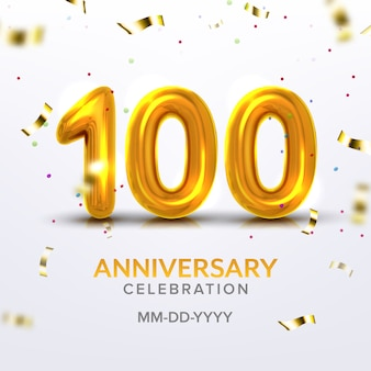 Feier zum hundertsten jahrestag