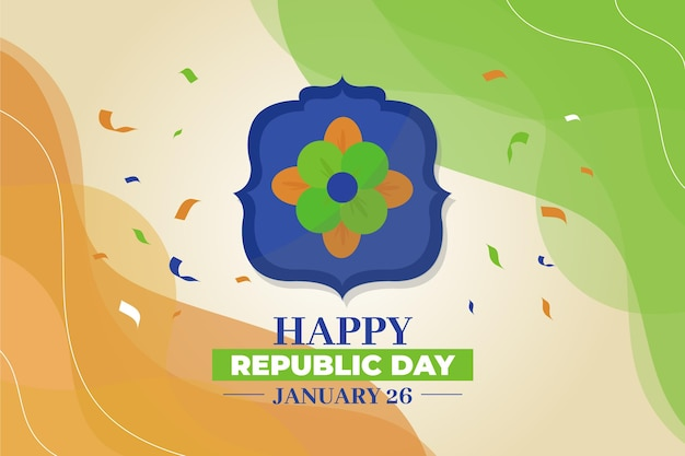 Feier zum tag der republik mit flagge