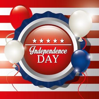 Feier zum unabhängigkeitstag am 4. juli in den vereinigten staaten von amerika