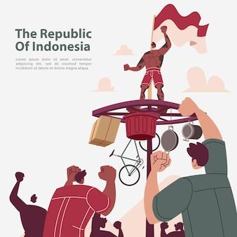 Feier zum unabhängigkeitstag der republik indonesien