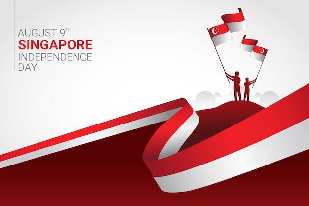 Feier zum unabhängigkeitstag von singapur