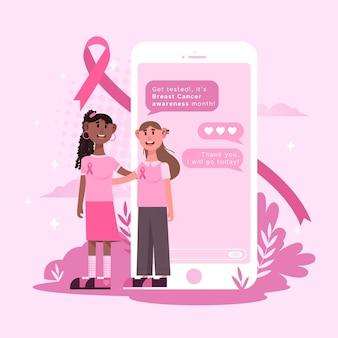 Feier zur aufklärung über brustkrebs