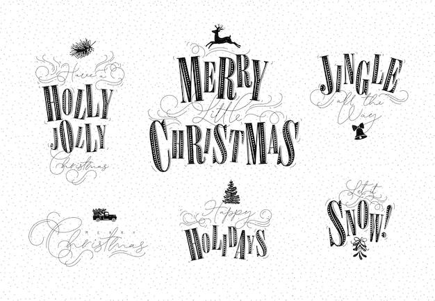 Feierbeschriftungen stechpalme jolly frohe kleine weihnachtsjingle den ganzen weg frohe feiertage
