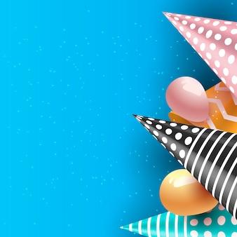 Feiergeburtstagsfeiertag steigt hintergrund im ballon auf