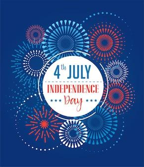 Feierkarte zum amerikanischen unabhängigkeitstag