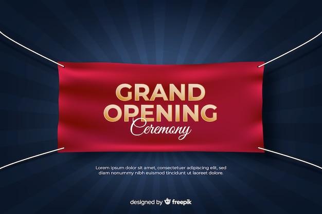 Feierliche eröffnung bald, ankündigung design