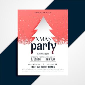 Feierlicher flyer für weihnachtsfest