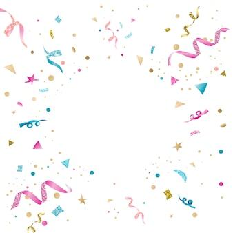 Feierliches design des bunten konfetti