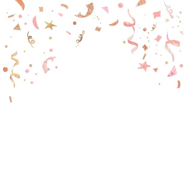 Feierliches design von hellrosa konfetti
