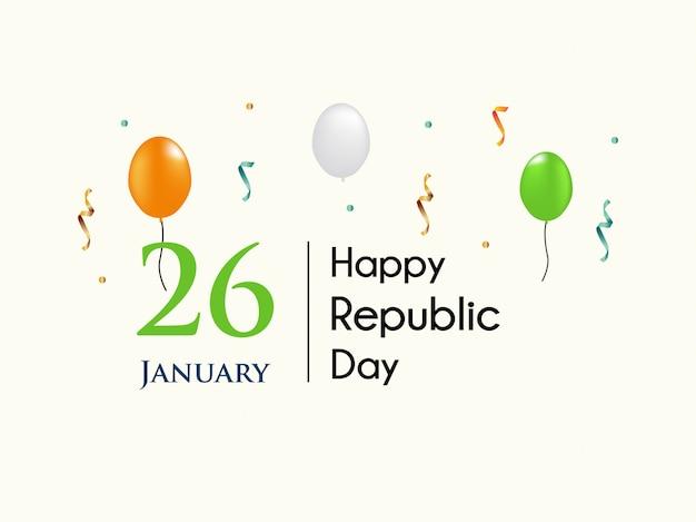 Feiern sie den 26. tag der indischen republik