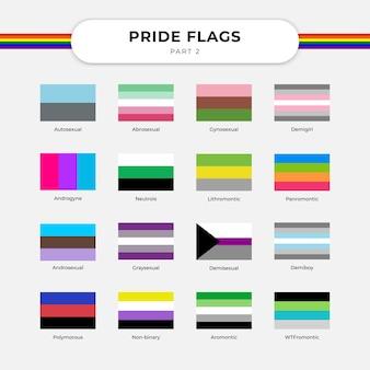 Feiern sie die freiheit und unterstützung von lgbt mit pride flag free vector