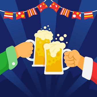 Feiern sie etwas und treffen sie ihre freunde auf einer bierparty.