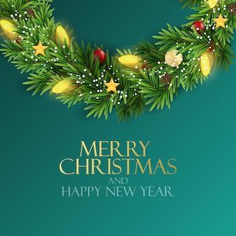Feiertag neujahr und frohe weihnachten hintergrund. illustration