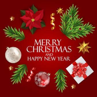 Feiertag neujahr und frohe weihnachten hintergrund. vektor-illustration