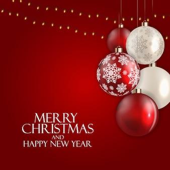 Feiertag neujahr und frohe weihnachten hintergrund