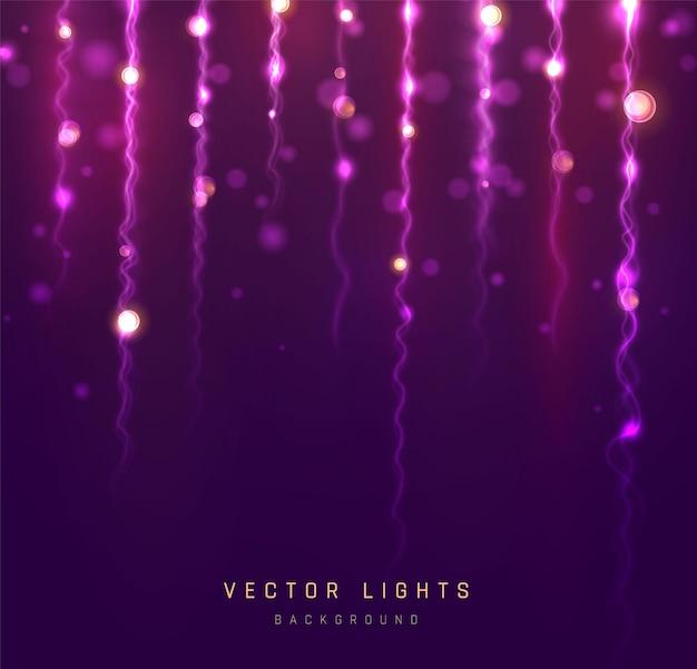 Feiertags-bokeh-lichter. verschwommenes bokeh-licht auf schwarzem hintergrund. abstrakter silberglitter defokussierte blinkende sterne und funken.
