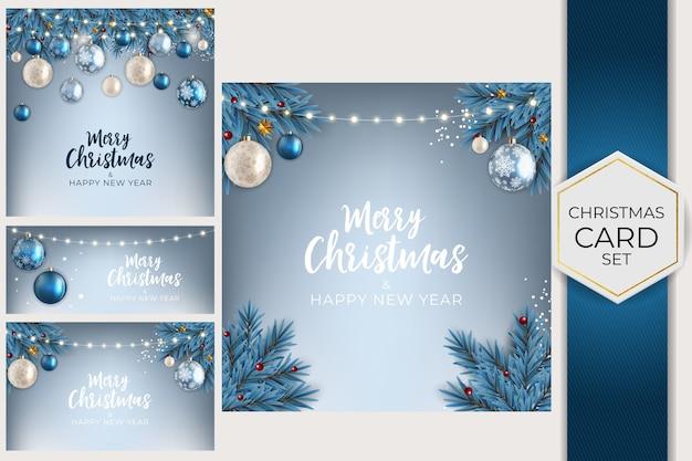 Feiertags-neujahrs- und frohe weihnachten-hintergrund-sammlung