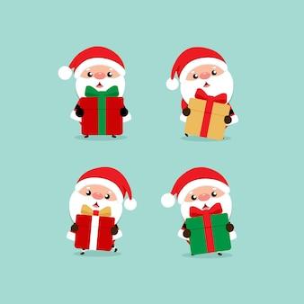 Feiertags-weihnachtsgrußkarte mit weihnachtsmann